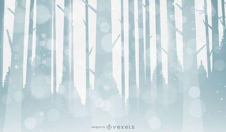 Fondo de bosque de invierno