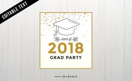 Diseño de banner de fiesta de graduación