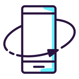 Augmented reality rotate smartphone icon
