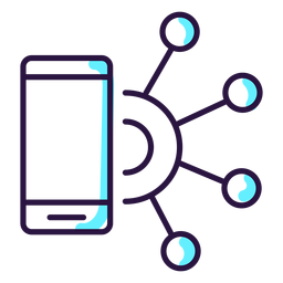 Augmented reality smartphone icon