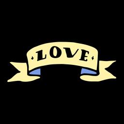 Love ribbon vintage tattoo