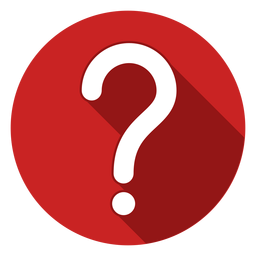 Red circle question mark icon