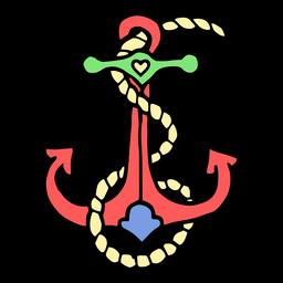 Tatuaje vintage de anclaje de nave