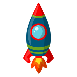 Simplistic space rocket illustration