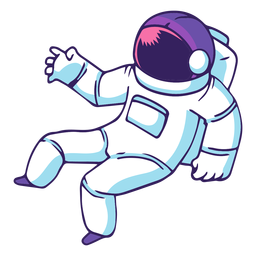 Space astronaut cartoon