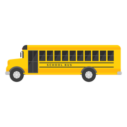Long school bus illustration