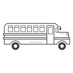 School bus stroke icon