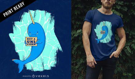 Diseño de camiseta Narwhal
