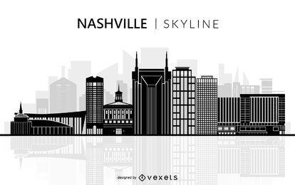 Gráfico de Nashville Tennessee Skyline Silhouette