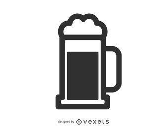 Icono de mancha de taza de cerveza