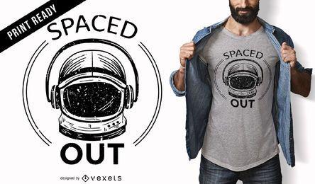 Diseño de camiseta espaciada
