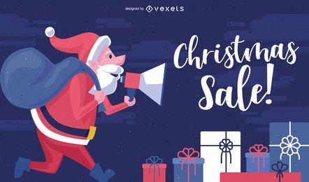 Fondo de llamada de venta de Navidad