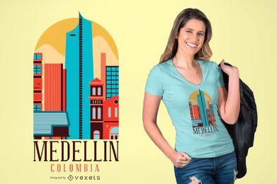 DISEÑO DE LA CAMISETA DE MEDELLIN COLOMBIA