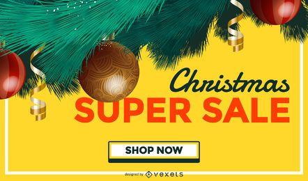 Fondo de árbol de venta de Navidad