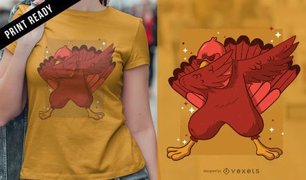 Diseño de camiseta Turkey dab