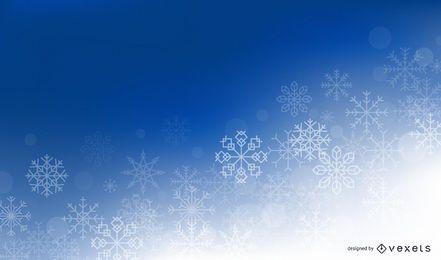 Fondo de copos de nieve de invierno