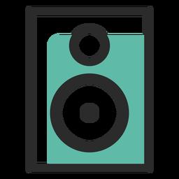 Audio speaker colored stroke icon