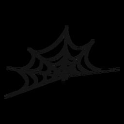 Icono de línea delgada de telaraña