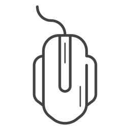 Gaming mouse stroke icon