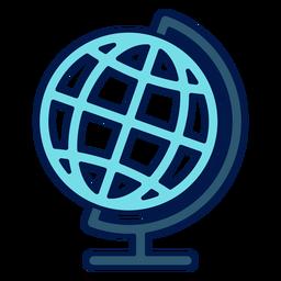 Geography globe school icon