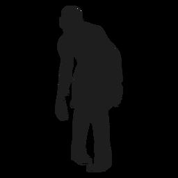 Male zombie silhouette