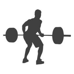 Man bent over row silhouette