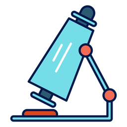 Microscope school icon