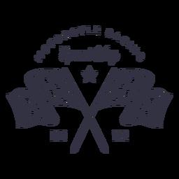 Logotipo de la bandera de carreras de motos