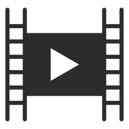 Movie player play flat icon