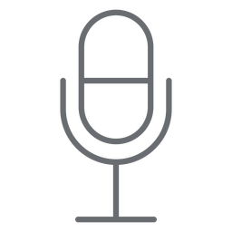 Multimedia microphone stroke icon