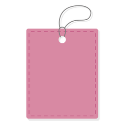 Plain rectangle price tag