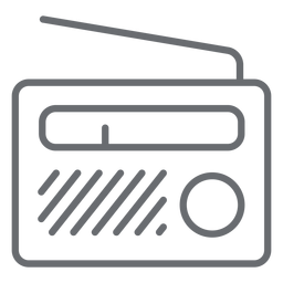 Portable radio stroke icon