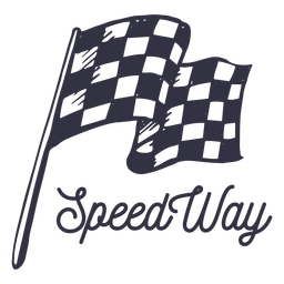 Speed way motorcycle logo