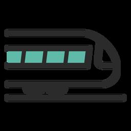 Icono de trazo de color de tren