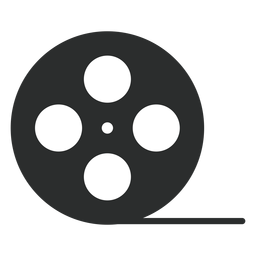 Video tape reel flat icon