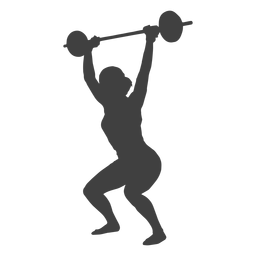 Woman snatch overhead silhouette