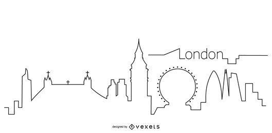 Contorno del horizonte de Londres
