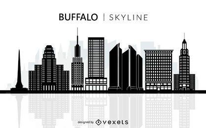 Silueta de horizonte de Buffalo