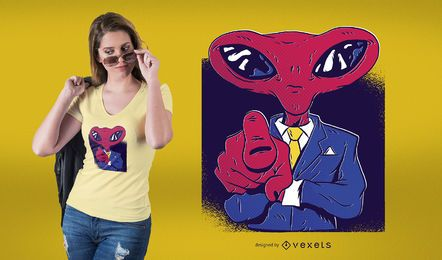 Alien boss t-shirt design