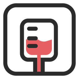 Blood bag colored stroke icon