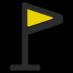 Icono de banner de trazo colorido