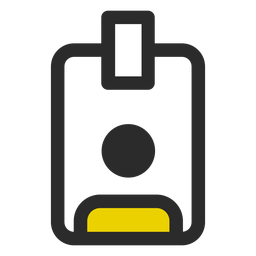 Employee badge colored stroke icon