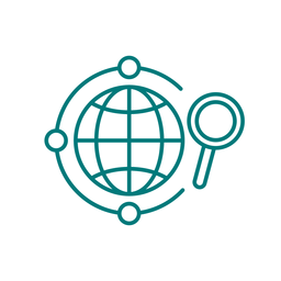 Global search stroke icon