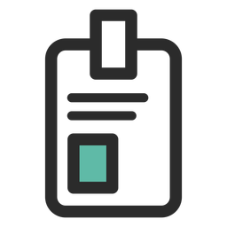 Id badge colored stroke icon