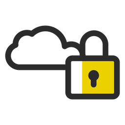 Locked cloud colored stroke icon