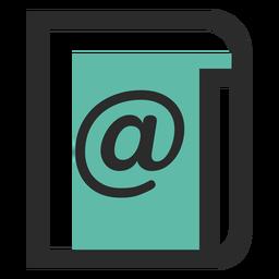 Lista de correo icono de trazo de color