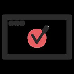 Monitor tick colored stroke icon