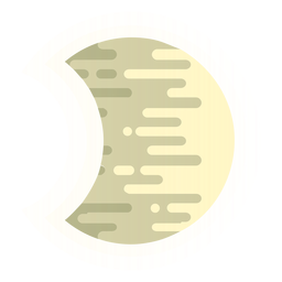 Moon rounded lines icon