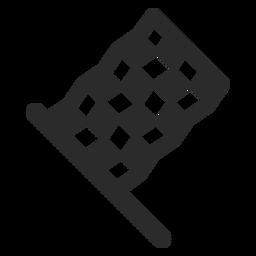 Icono de carrera de bandera de carreras