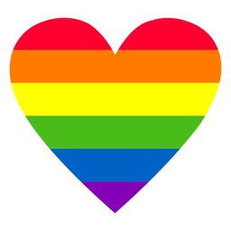 Rainbow heart element